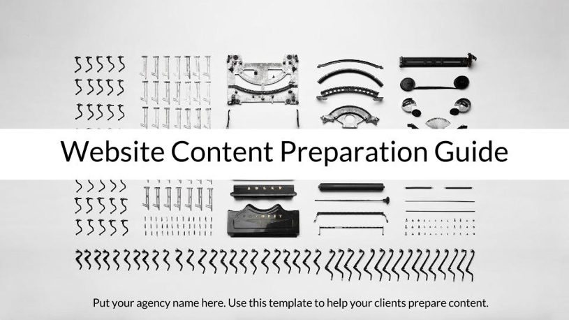 Website Content Preparation Guide - for clients of web agencies